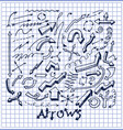 lot of pretty arrows sketches vector image