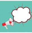 Megaphone with Sheesh and Speech Bubble vector image vector image