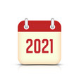 new year 2021 calendar icon vector image vector image