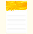 notes to do list daily planner template vector image
