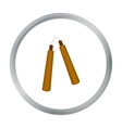 Nunchuck icon cartoon Single weapon icon from the vector image