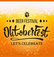 oktoberfest beer festival close up beer vector image