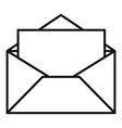 open envelope icon outline style vector image