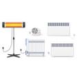 panel of radiator electric oil radiator heater vector image vector image