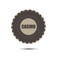 poker chips casino gambling game isolated flat vector image