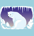 polar bear on the north pole vector image vector image