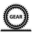 rack pinion spur gear wheel symbol vector image vector image