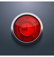 red circle button Eps10 vector image vector image