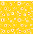Retro seamles yellow background vector image