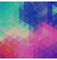 Retro triangle graphic pattern vector image