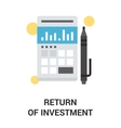 return of investment vector image vector image