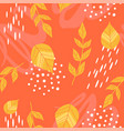 seamless pattern of yellow leaves vector image