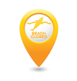 shark icon yellow map pointer vector image vector image