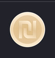 shekel israeli coin icon vector image vector image