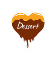 sign in the form of sweet food vector image vector image