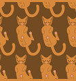 sleeping cat seamless pattern pet background vector image