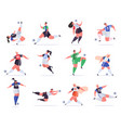 sport football people soccer male and female vector image