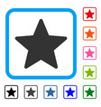 star framed icon vector image vector image