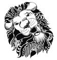 Tattoo leo symbol vector image vector image