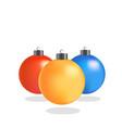 three new year s multicolored balls vector image vector image