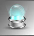transparent sphere on plate vector image vector image