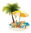 travel and summer beach vacation relax icon vector image vector image