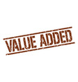value added stamp vector image vector image