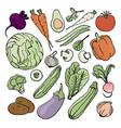 vegetarian set nutrition paleo natural diet vector image vector image