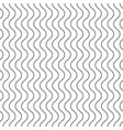 vertical thin wavy lines seamless pattern vector image vector image