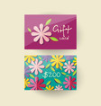 voucher template with floral design vector image
