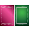 white frames on green and red backgrounds vector image vector image