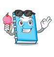 with ice cream education character cartoon style vector image vector image