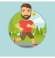 Young man running in the park vector image vector image