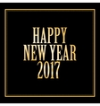 happy new year 2017 greeting card golden letter vector image