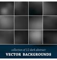 Set of twelve blurred background vector image