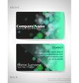 A gradient colored business card vector image vector image