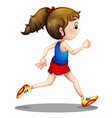 A young girl running vector image vector image