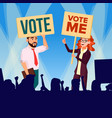 agitation and call to vote female and male vector image