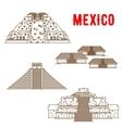 ancient maya and incas culture landmarks of mexico vector image vector image