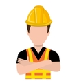avatar construction man graphic vector image vector image