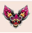 bat tattoo vector image