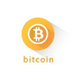 bitcoin crypto currency orange circle icon vector image