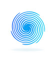 blue futuristic circular wave vector image