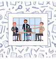business meeting and seminar of workers vector image vector image