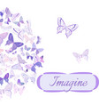card with butterflies arranged in semicircle vector image vector image