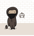 cartoon anarchist vector image