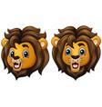 cartoon lion faces vector image vector image