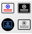 certificate eps icon with contour version vector image
