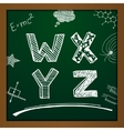 chalk drawing alphabet vector image vector image