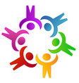colorful people teamwork logo vector image vector image